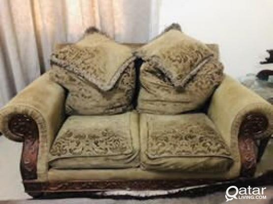 7 Seater Sofa And 3 Glass Table