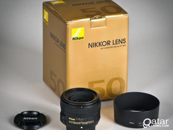 Like New Nikon 50mm f/1.8 G Lens