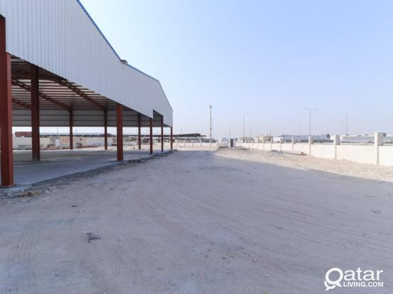 Strong Built Warehouse with Extra Land Space Available for Rent.