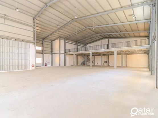 2000 SQM Brand New warehouse mezzanine, ShowRooms + Offices + Accommodation