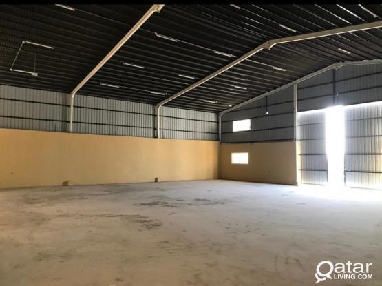 200 SQM Licensed Store/Workshop with 2 Room  for rent- Birkat Al Awameer