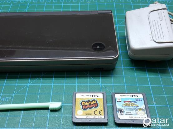 Nintendo DSi XL Black with games