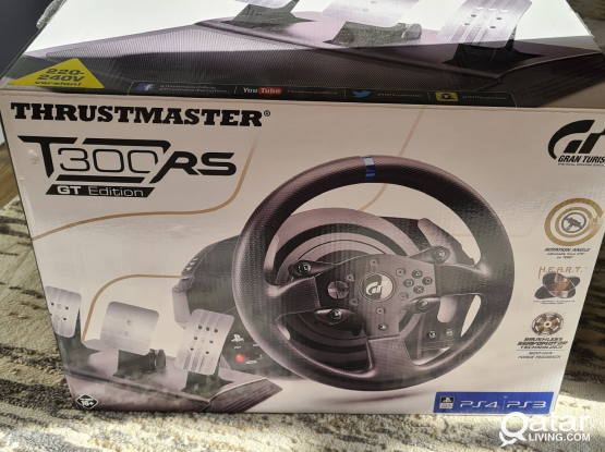 Thrustmaster T300RS GT steering and pedals