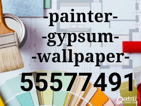 Painter carpenter gypsum board repairing work -55577491