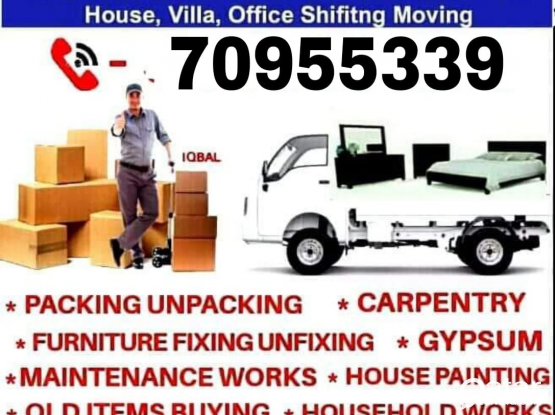 Shifting and moving works. Please contact us 70955339