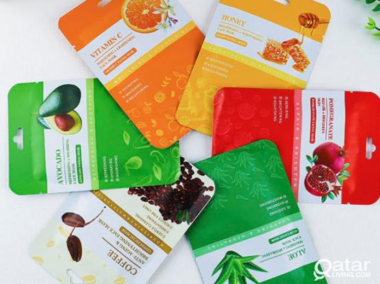 IREV 100% organic plant extract face masks (6 pcs)