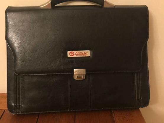 Black Leather Look Briefcase