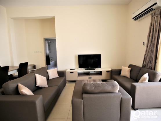 Semi Furnished 1BD in a compound  - West Bay