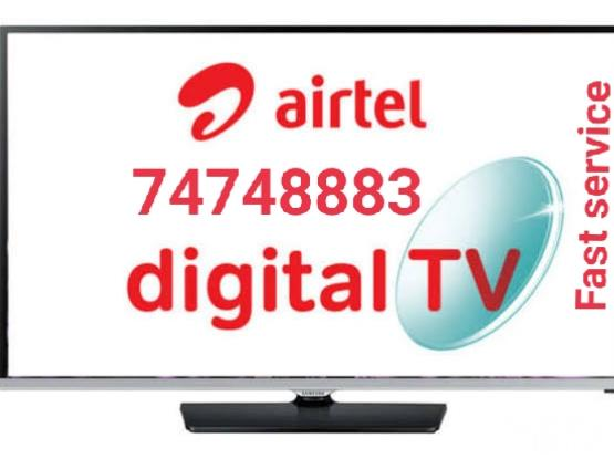Airtel dish &hd receiver with installation.74748883