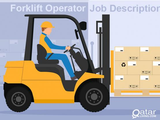 Job Vacancy for Fork Lift Driver
