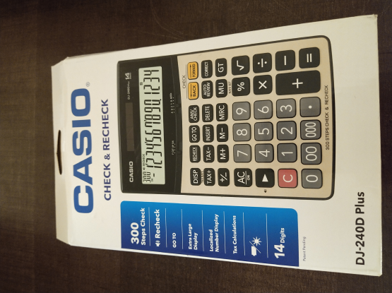 CASIO Electronic Calculator - office stationary