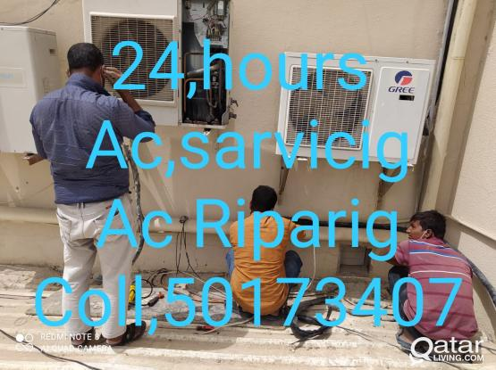 24/ 7 hours AC service and repairing,, what ar Kalin,, fitting, coll me phon and whatapp 50173407