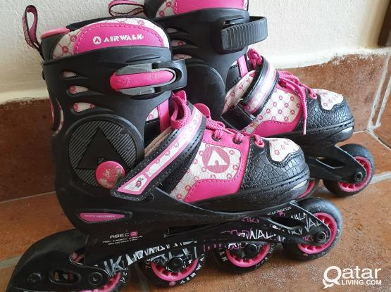 Rollerblades size 33-36 and Protections