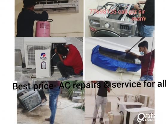 Best price- AC repairs & service for all types of AC. Please call or whatsapp 77698135