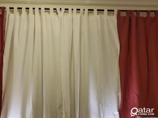 IKEA Lenda Curtains 2 pairs 140cm×300cm