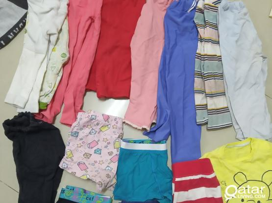 Well maintained good condition used cloths for baby boy & girls 0 to 3 years for 1 QAR per piece