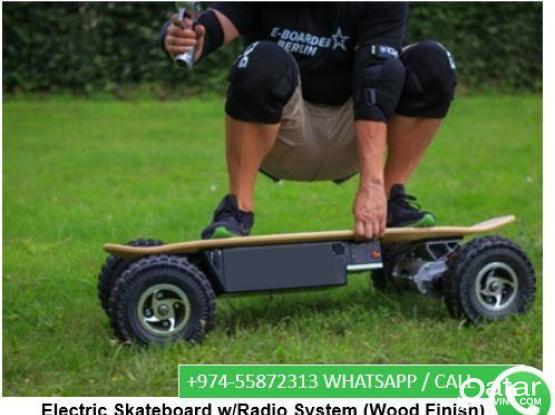 Brand-new -Electric Skateboard w/Radio System (Wood Finish)