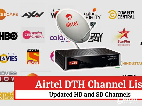 All kinds of satellite dish receiver sale service Airtel hd receiver sale Airtel recharge Airtel remote available 33083167