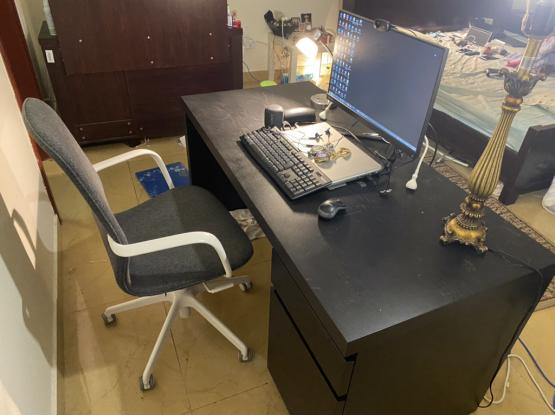 IKEA Office Table With Revolving Chair