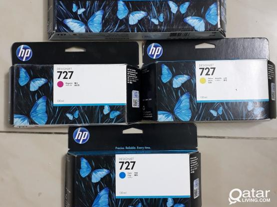 HP 727 Ink Cartridges Full set