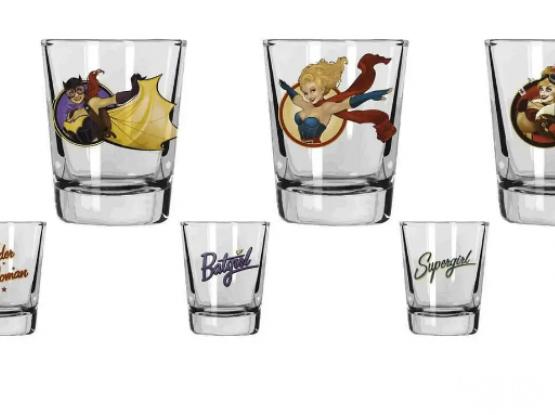 DC Comics DC Universe Shot Glasses Set of 4 Bombshell