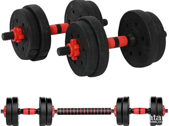 EID OFFER 40 kg Dumbbell / Barbell Set (home gym) NEW
