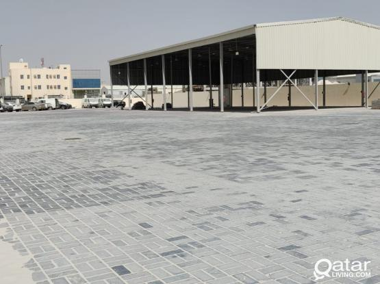 3700 Paved Land with 500 Shed For Rent