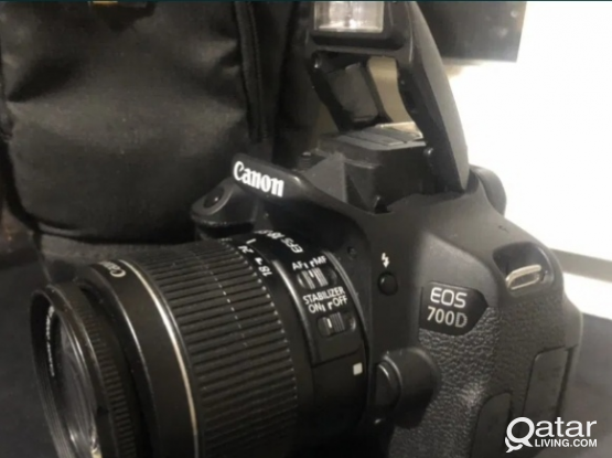 Canon 700d with 18-55mm lens