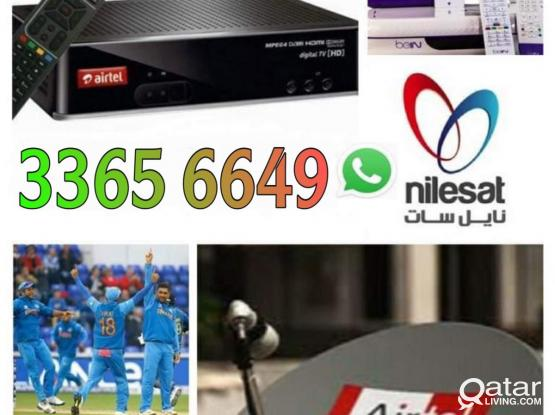 We do Any satellite dish installation, HD Receiver,LNB & Remote, cable and dish selling call 33656649 WhatsApp