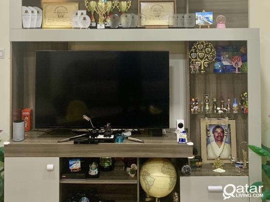 Sofa set, Center Stand and TV Unit