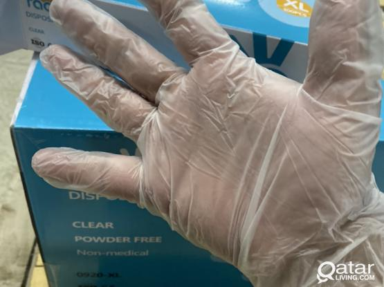 VINYL GLOVES POWDER FREE AVAILABLE