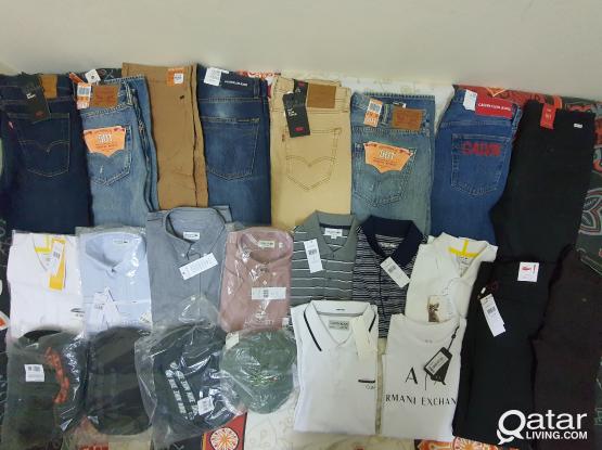 Levi's Lacoste Calvin Klein Armani & Nike for Sale