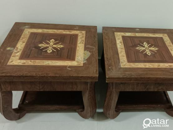 Center table plus side tables-set of 3 very strong tables