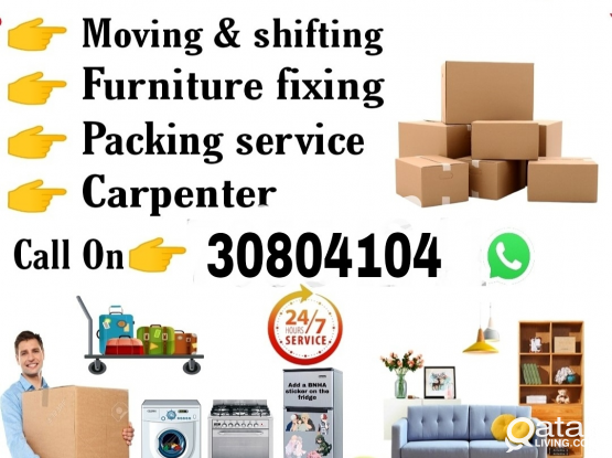 Shifting amd moving All Kind of furniture packing