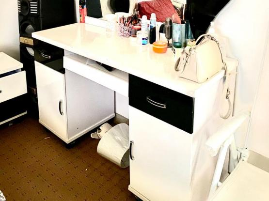 Bed, Dressing Table, Cupboard