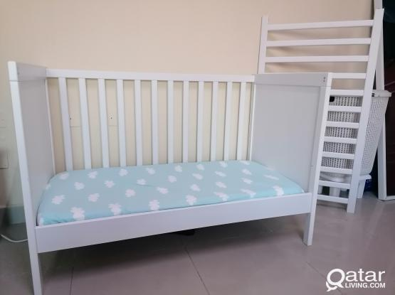 Ikea Cot Bed (very excellent condition). Almost new. With all accessories.