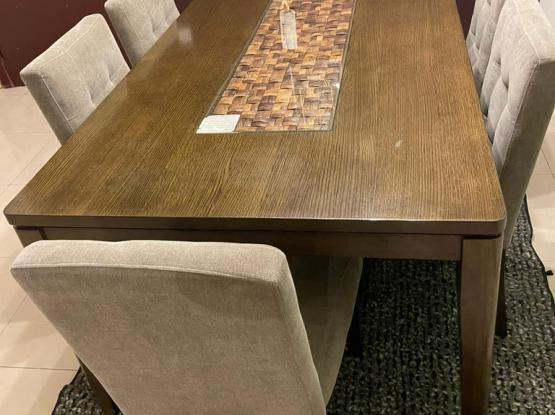 Gerard Dining Set 6 Chairs (Home Center)