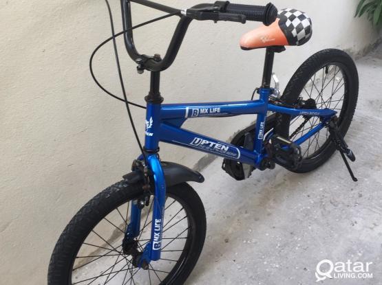18 inch blue Bmx bike good working cond