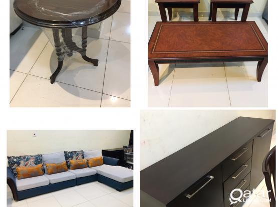 Villa furniture items for sell used but good condition