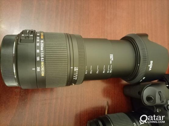 (QR1500 each) Canon 650D Camera and Sigma DC 18-250mm HSM OS Lens