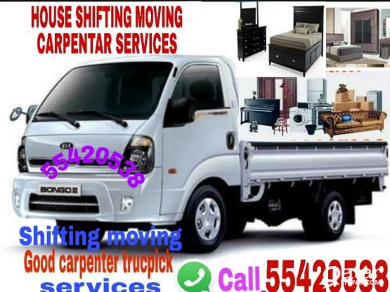 55420538'TRANSPORT-SHIFTING,MOVING,CARPENTAR-HOUSE SHIFTING,WITH-TRUCK&PICK.UP-PLEASE CALL.55420538