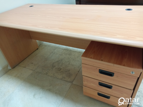 Office table with adjustable Chair and cabinet