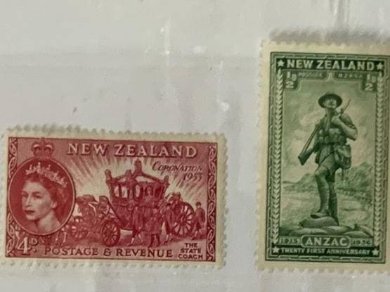 NewZealand early commemorative mint stamps