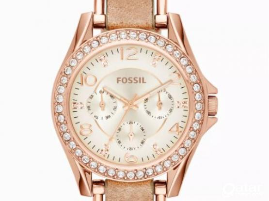Fossil Riley Rose-Tone Watch