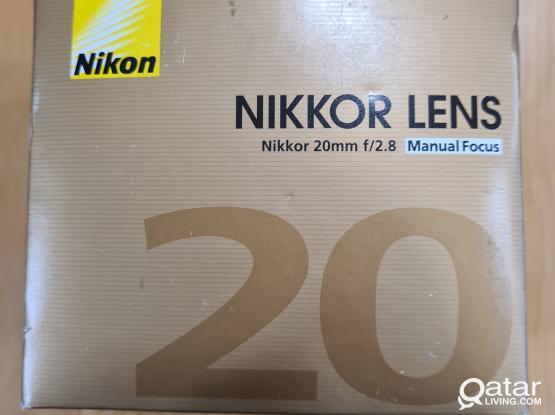Nikon 20mm f/2.8 Ais Lens
