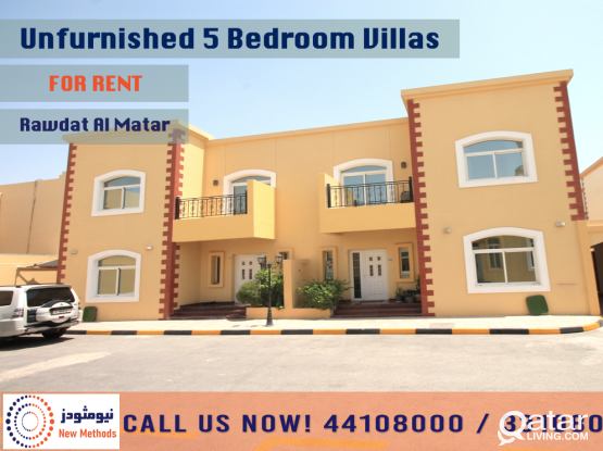 UNFURNISHED 5 BEDROOM BIG VILLAS IN RAWDAT AL MATAR - FOR RENT
