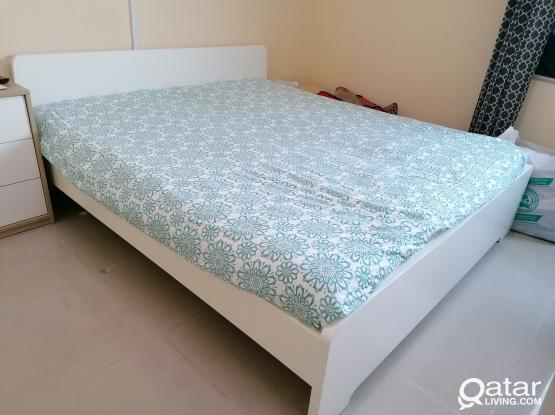 Ikea extra King size bed 200x180cm with Ikea Mattress