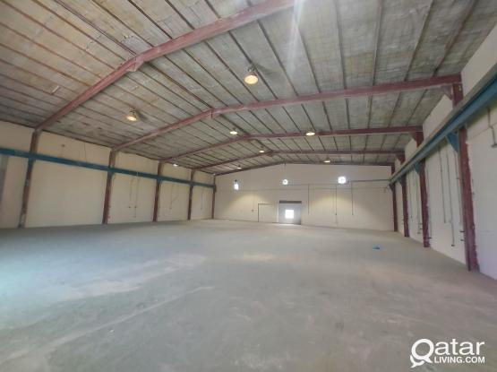 1500sqm  STORE  5 Rooms for rent industrial area