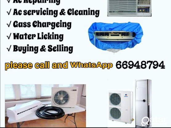 AC servicing repairing fixing selling and buying window and spirit please call and WhatsApp 66948794