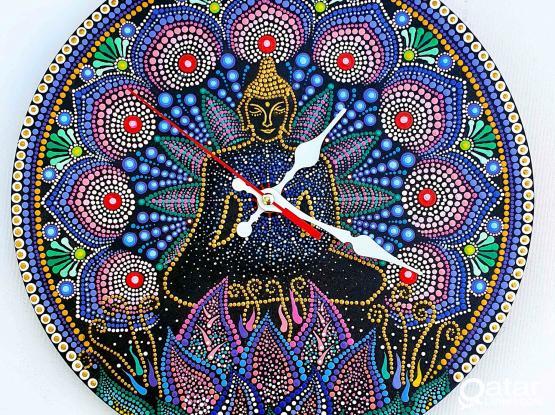 Buddha Silent Wall Clock, Mandala Styles